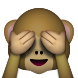 Gözlerini kapatan maymun ifadesi