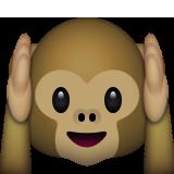 Kulaklarını kapatan maymun ifadesi