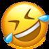 Alt gülen emoji
