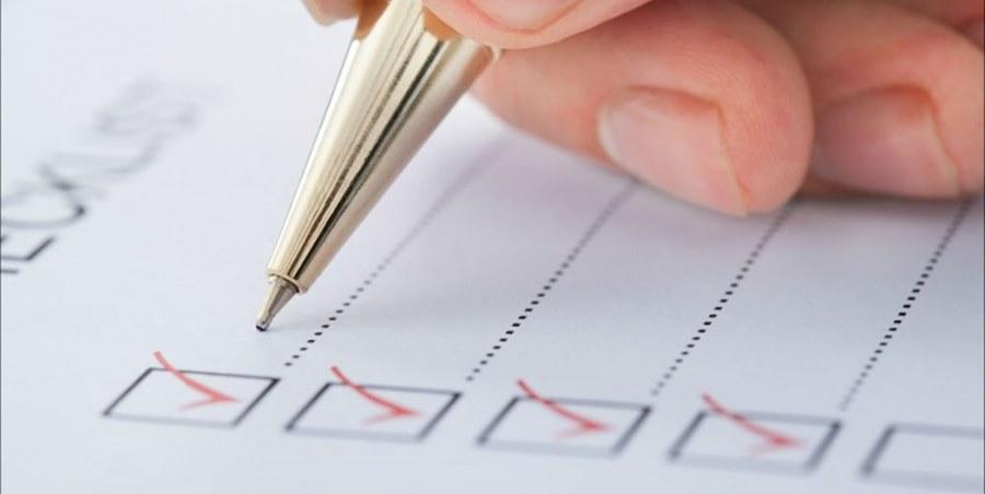 kontrol listesi - checklist
