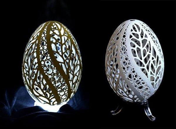 Diken üstünde Bir Sanat Yumurta Oyma Sanatı Emoji