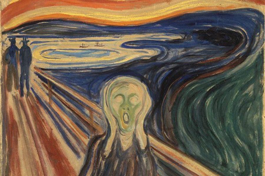 Edvard Munch - Çığlık Resmi - The Scream - Skrik